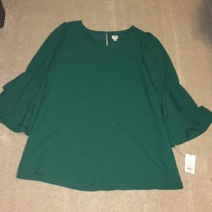 A New Day Green Long Sleeve Dress! NWT!